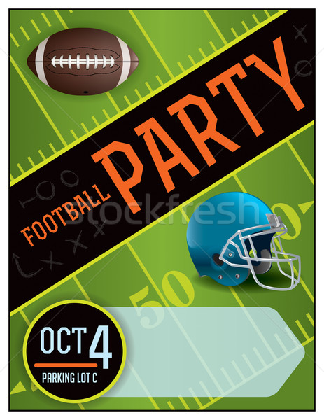 Amerikan futbol parti poster örnek oda Stok fotoğraf © enterlinedesign