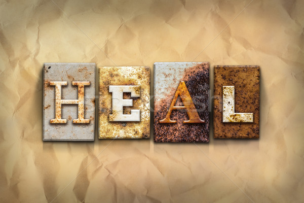 Heal Concept Rusted Metal Type Stock photo © enterlinedesign