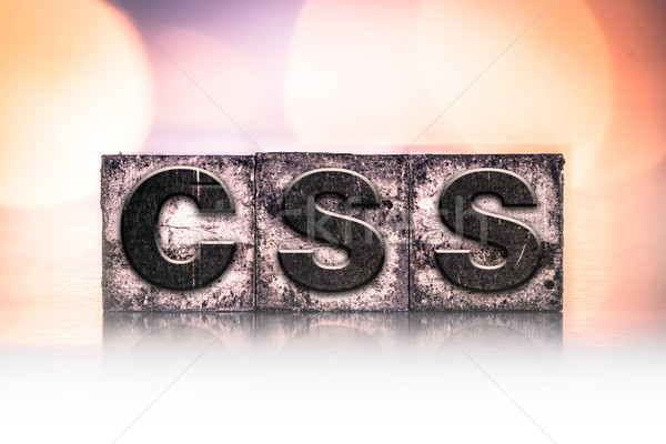 CSS Concept Vintage Letterpress Type Stock photo © enterlinedesign
