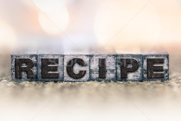 Receita vintage tipo palavra escrito Foto stock © enterlinedesign