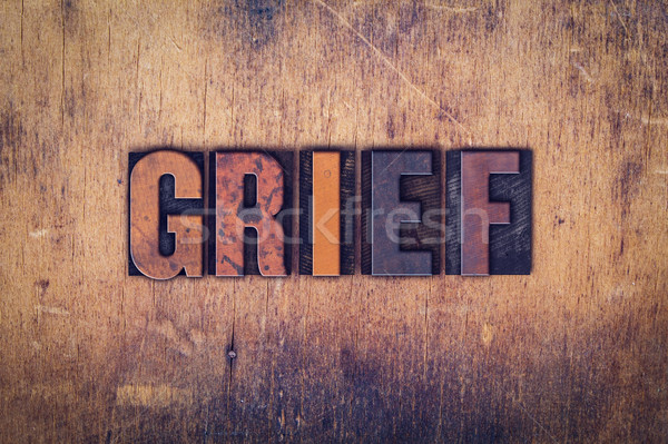 Grief Concept Wooden Letterpress Type Stock photo © enterlinedesign