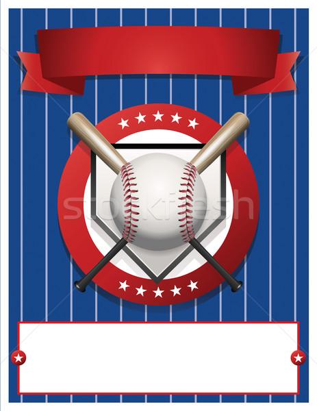 Blank Baseball Flyer Template Illustration Stock photo © enterlinedesign
