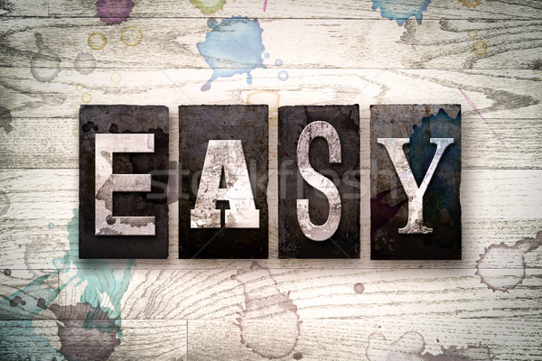 Easy Concept Metal Letterpress Type Stock photo © enterlinedesign