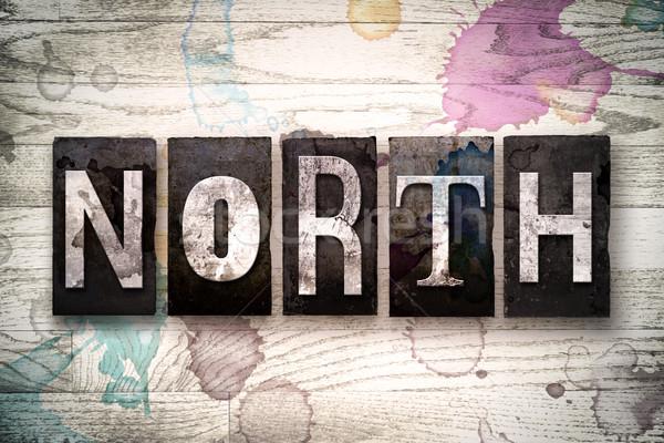 North Concept Metal Letterpress Type Stock photo © enterlinedesign