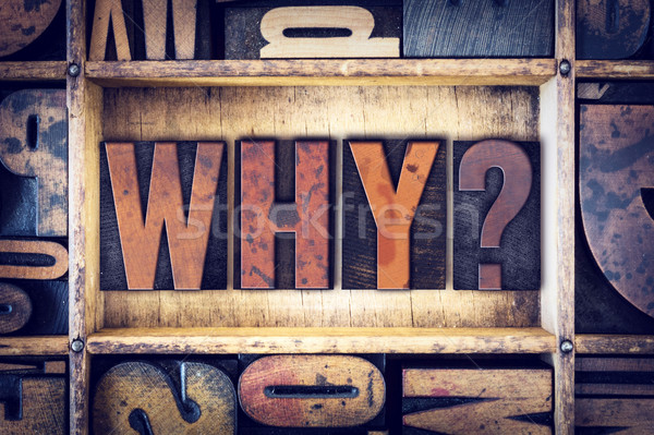 Why Concept Letterpress Type Stock photo © enterlinedesign