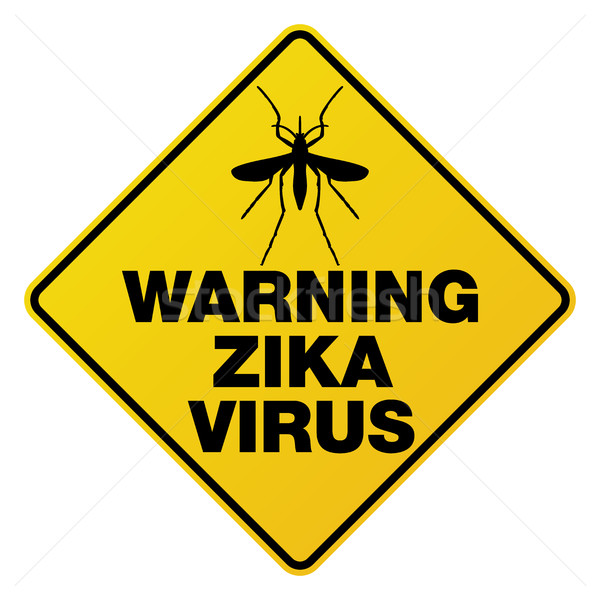 Yellow Zika Virus Warning Sign Illustration Stock photo © enterlinedesign