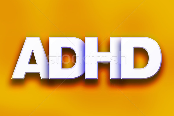 ADHD Concept Colorful Word Art Stock photo © enterlinedesign