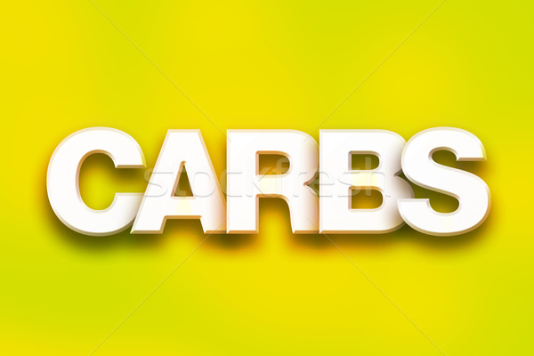 Carbs Concept Colorful Word Art Stock photo © enterlinedesign