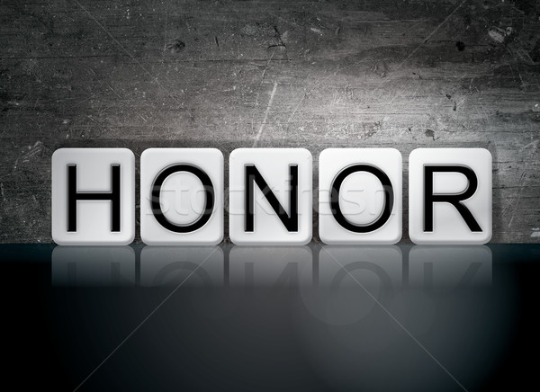 Honor Tiled Letters Concept and Theme Stock photo © enterlinedesign