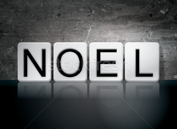 Noel Tiled Letters Concept and Theme Stock photo © enterlinedesign