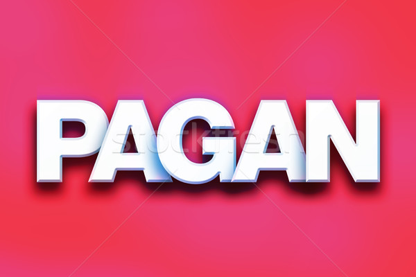 Pagan Concept Colorful Word Art Stock photo © enterlinedesign