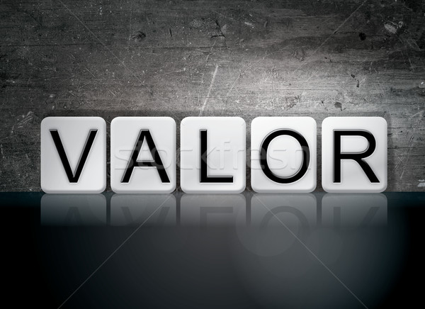 Valor Tiled Letters Concept and Theme Stock photo © enterlinedesign