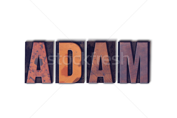 Adam Concept Isolated Letterpress Word Stock photo © enterlinedesign