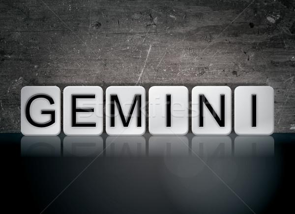 Gemini Concept Tiled Word Stock photo © enterlinedesign