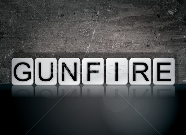 Gunfire Concept Tiled Word Stock photo © enterlinedesign