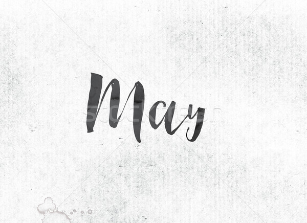 May Concept Painted Ink Word and Theme Stock photo © enterlinedesign