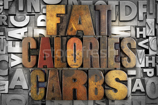 Fat Calories Carbs Stock photo © enterlinedesign