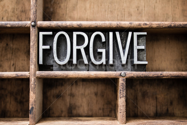 Forgive Vintage Letterpress Type in Drawer Stock photo © enterlinedesign