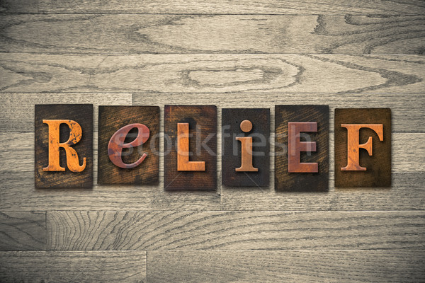 Relief Wooden Letterpress Theme Stock photo © enterlinedesign