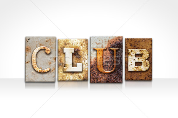 Club Letterpress Concept Isolated on White Stock photo © enterlinedesign