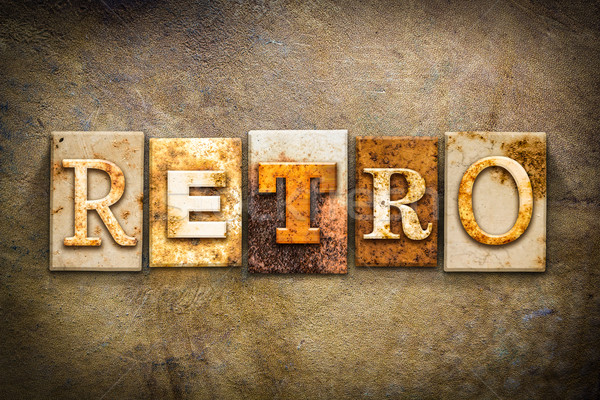 Retro Concept Letterpress Leather Theme Stock photo © enterlinedesign