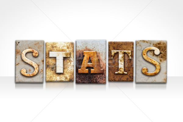Stats Letterpress Concept Isolated on White Stock photo © enterlinedesign