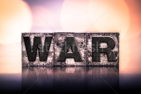 войны Vintage тип слово написанный Сток-фото © enterlinedesign