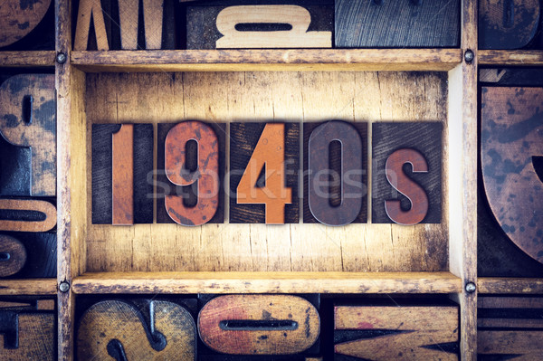 1940s Concept Letterpress Type Stock photo © enterlinedesign