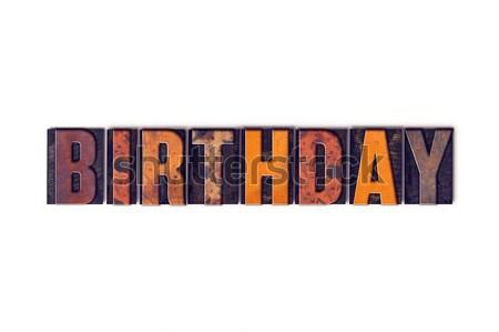 Aniversário isolado tipo palavra escrito Foto stock © enterlinedesign