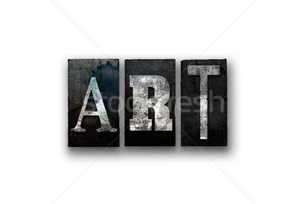 Art Concept Isolated Letterpress Type Stock photo © enterlinedesign