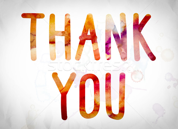 Thank You Concept Watercolor Word Art Stock photo © enterlinedesign