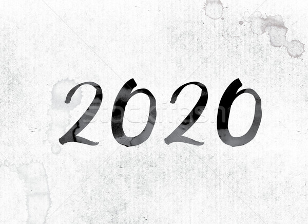 2020 Concept Painted in Ink Stock photo © enterlinedesign