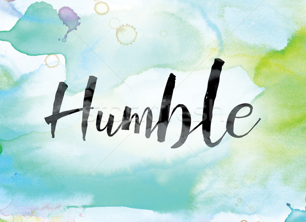 Humble Colorful Watercolor and Ink Word Art Stock photo © enterlinedesign