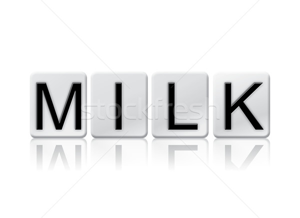 Milk Isolated Tiled Letters Concept and Theme Stock photo © enterlinedesign