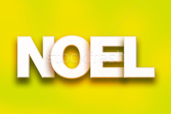 Noel Concept Colorful Word Art Stock photo © enterlinedesign