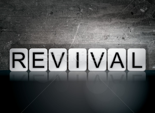 Revival Tiled Letters Concept and Theme Stock photo © enterlinedesign