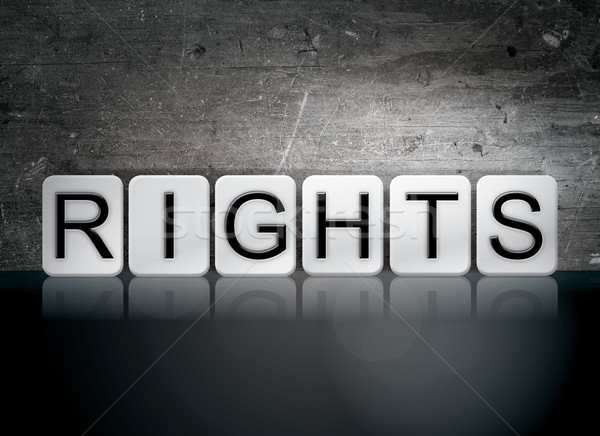 Rights Tiled Letters Concept and Theme Stock photo © enterlinedesign