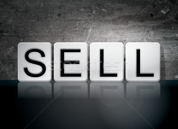 Sell Tiled Letters Concept and Theme Stock photo © enterlinedesign
