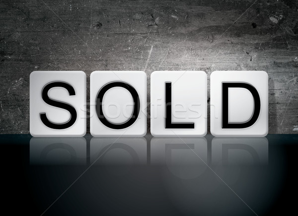 Sold Tiled Letters Concept and Theme Stock photo © enterlinedesign
