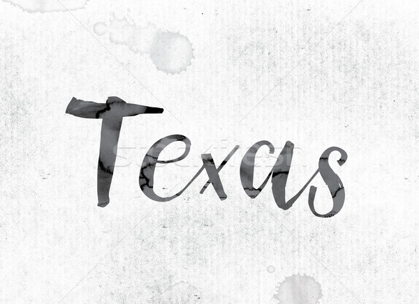 Texas Concept Painted in Ink Stock photo © enterlinedesign