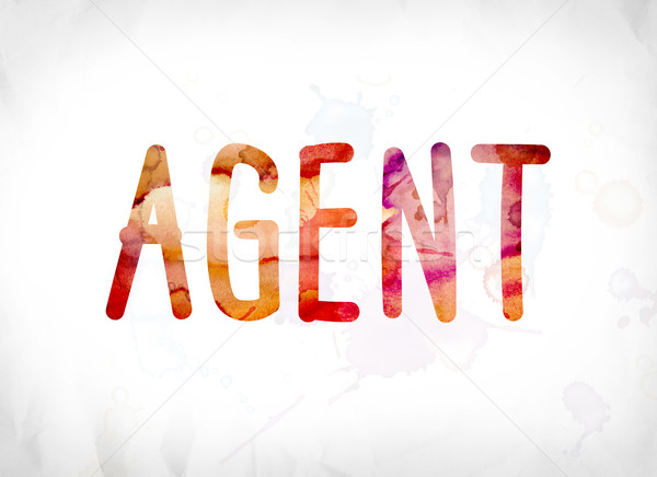 Agent Concept Painted Watercolor Word Art Stock photo © enterlinedesign
