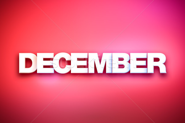 December Theme Word Art on Colorful Background Stock photo © enterlinedesign