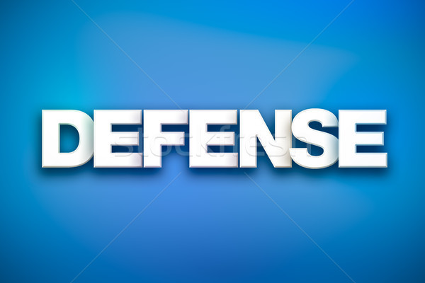 Defense Theme Word Art on Colorful Background Stock photo © enterlinedesign