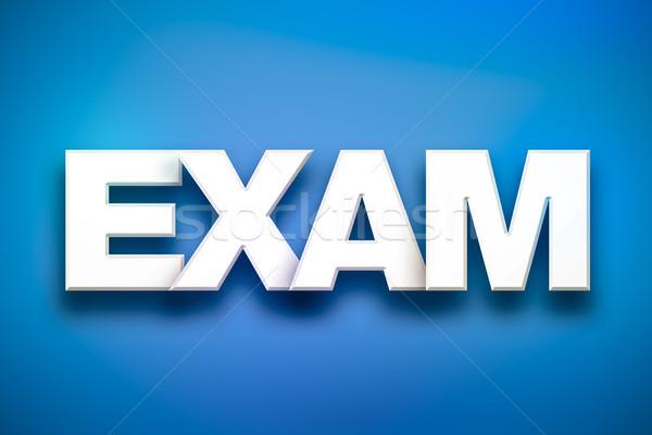 ストックフォト: 試験 · 言葉 · 芸術 · カラフル · 書かれた · 白