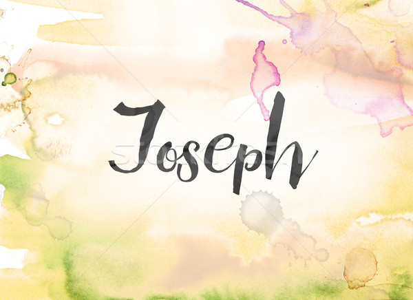 Joseph Concept Watercolor and Ink Painting Stock photo © enterlinedesign