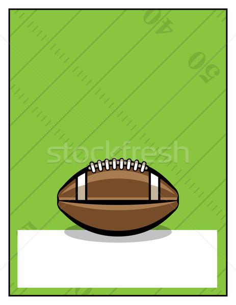 Amerikai futball szórólap sablon illusztráció buli Stock fotó © enterlinedesign