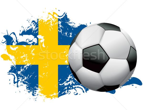 Sweden Soccer Grunge Design Stock photo © enterlinedesign