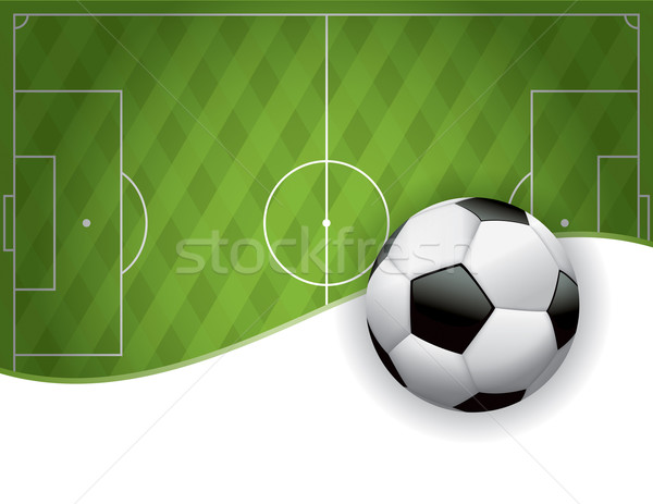 Football American Soccer Field and Ball Background Stock photo © enterlinedesign