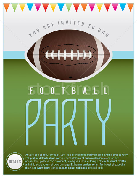 Football Party Flyer Stock photo © enterlinedesign