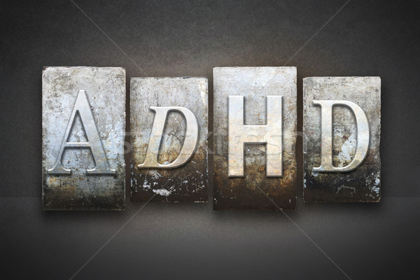 ADHD Letterpress Concept Stock photo © enterlinedesign
